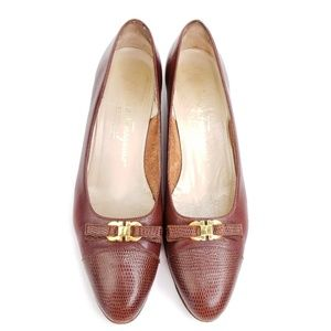 Salvatore Ferragamo vintage low heeled loafers